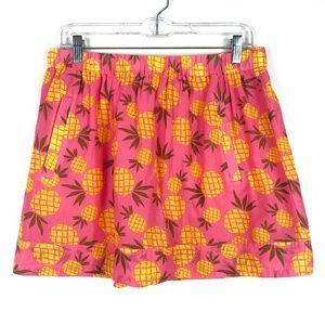 NWT J. Crew Factory Pineapple Printed Cotton Skirt